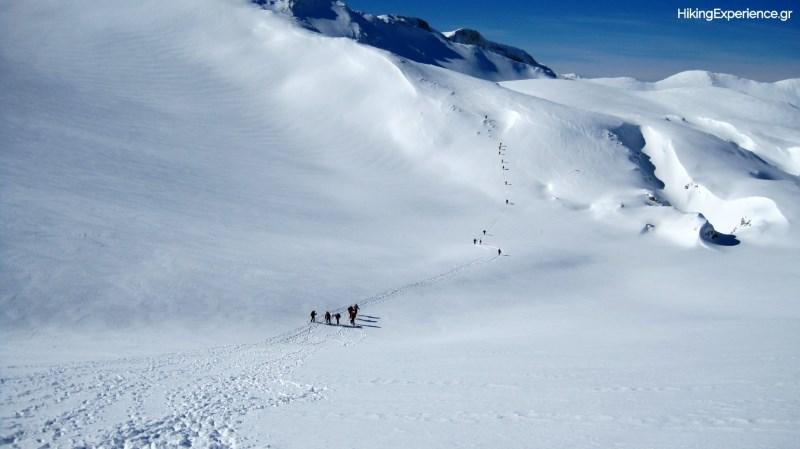 Πορεία προς το χιονοδρομικό κέντρο Κελάρια