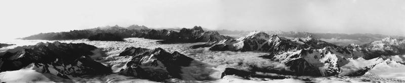 Baksan Valley, Mts Giuguturly - Chad Koshtantau, Dichtau, Shkara, Adyl valley, Mtns Dongusoren, Ushba, Leila - Gora, Ciubikevi, Otur, Soanezia, etc.. Cone dell'Elbruz East, 5000m, August 19, 1889