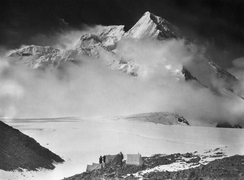 Camp below Broad Peak on the Godwin Austen Glacier, 1909