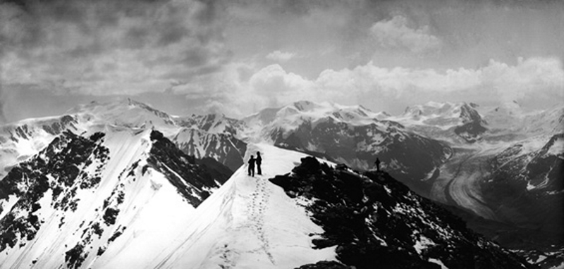 From one of the summits of Mt Forno (3262m), 1887