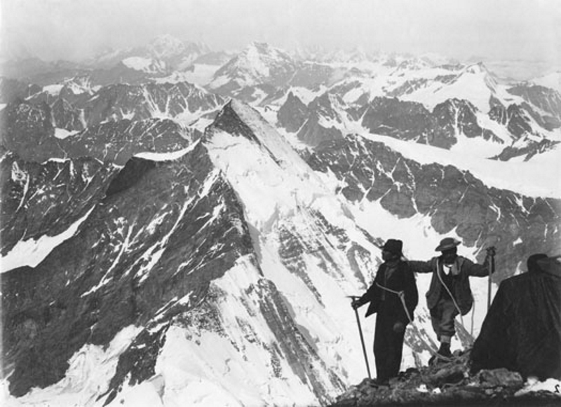 From the Italian side of The Matterhorn, 4482m, 29 July 1882