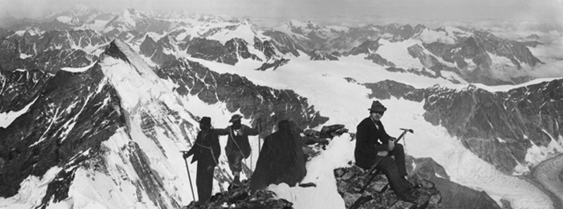 From the Italian side of The Matterhorn, 4482m. 29 July 1882