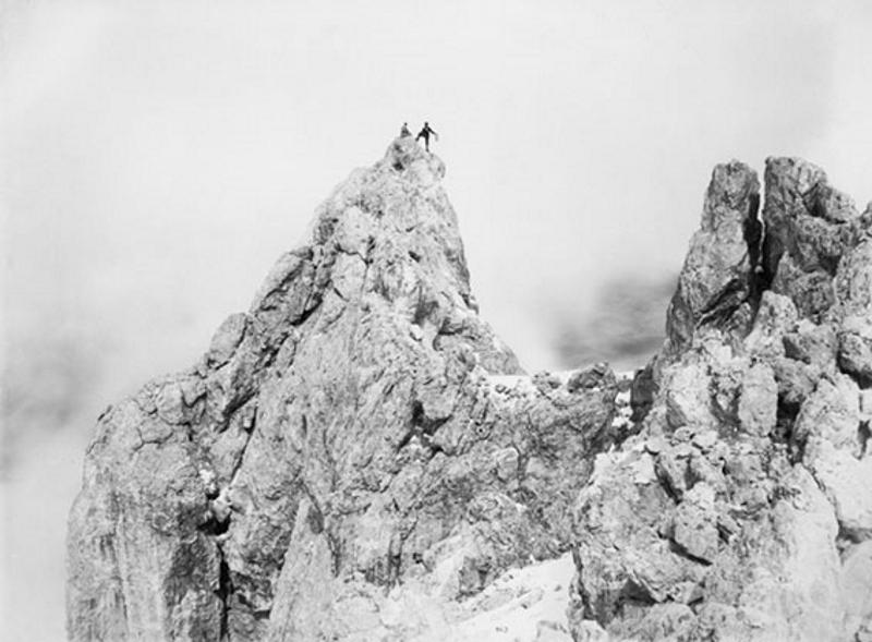 Highest peak of the Cimon Della Pala, Dolomites, August 26, 1891