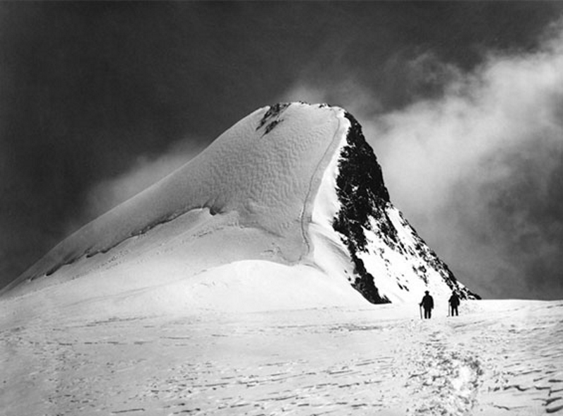 Highest peak of the Rouies as seen from the Chardon Glacier, August 3, 1888