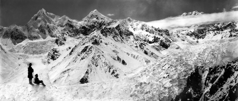 Kanchinjinga (8597m) surrounded by clouds after heavy snowfall, September-October 1899
