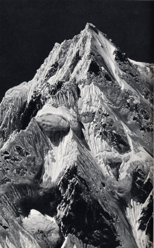 Telephoto of the summit of Siniolchun, taken from the Zemu Glacier, Sikkim, 1899