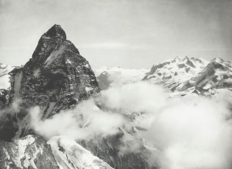 The Matterhorn and Monte Rosa as seen from the Grandes Murailles Pass, September 18, 1887
